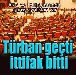 T�rban ge�ti, ittifak bitti  Siyaset  Milliyet �nternet
