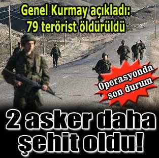 Genelkurmay: Kara harekat�nda bug�n 2 �ehit daha verildi...  T�rkiye  Milliyet �nternet