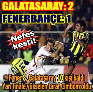 Galatasaray: 2 - Fenerbah�e: 1 (Ma� sonucu)  Spor  Milliyet �nternet