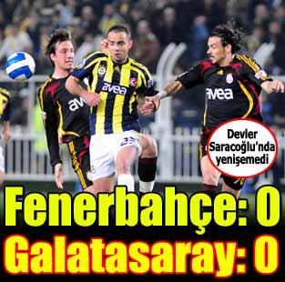 Fenerbah�e:0 - Galatasaray:0 (Ma� sonucu)  Spor  Milliyet �nternet