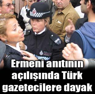 Ermeni an�t� a��l���nda T�rk gazetecilere dayak  D�nya  Milliyet �nternet