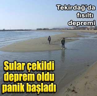 Deniz �ekildikten sonra deprem oldu, korku ba�lad�  T�rkiye  Milliyet �nternet