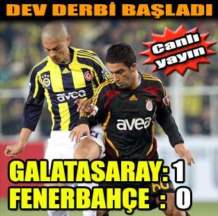 Galatasaray: 1 - Fenerbah�e: 0 (�lk yar�)  Spor  Milliyet �nternet