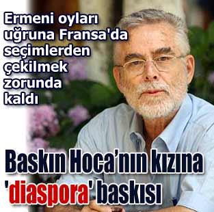 Bask�n Oran'�n k�z� S�rma'ya 'diaspora' bask�s�  D�nya  Milliyet �nternet