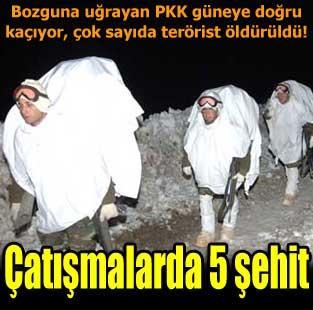 Genelkurmay: 5 askerimiz �ehit oldu  T�rkiye  Milliyet �nternet