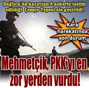 Da�l�ca'da ka��r�lan 8 askerin teslim edildi�i yer ele ge�ti  T�rkiye  Milliyet �nternet