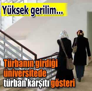 ��eride t�rbanl� ders, d��ar�da t�rbana protesto  T�rkiye  Milliyet �nternet