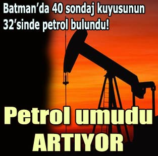 Batman'da 40 sondaj kuyusunun 32'sinde petrol bulundu!  Ekonomi  Milliyet �nternet