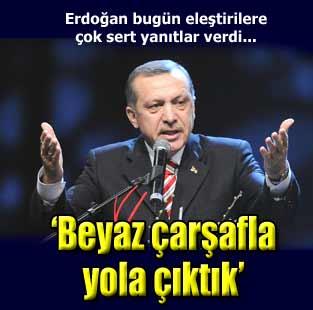 Erdo�an'dan Baykal'a: �dam sehpas� yolu g�steriyor,biz beyaz �ar�afla yola ��kt�k  Siyaset  Milliyet �nternet