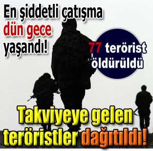 Genelkurmay: 77 ter�rist etkisiz hale getirildi  T�rkiye  Milliyet �nternet