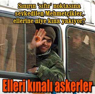 Elleri k�nal� askerler...  T�rkiye  Milliyet �nternet
